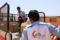 توزیع ۱۵۲ بسته لوازم خانگی بین سیلزدگان سیستان و بلوچستان