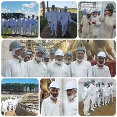 Leader's representative visits slaughterhouse in Brazil