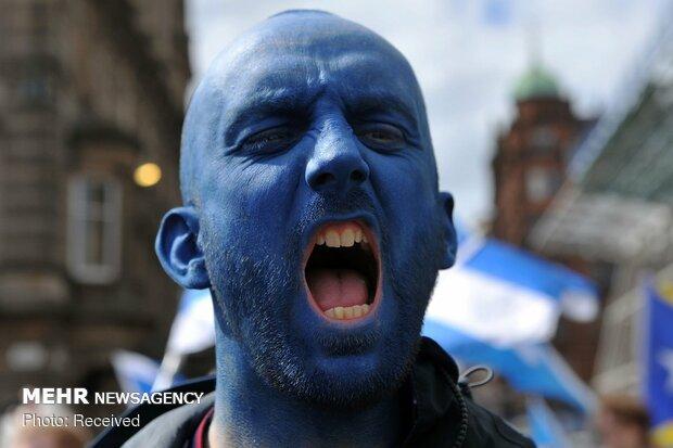 تظاهرات جدایی طلبان در اسکاتلند