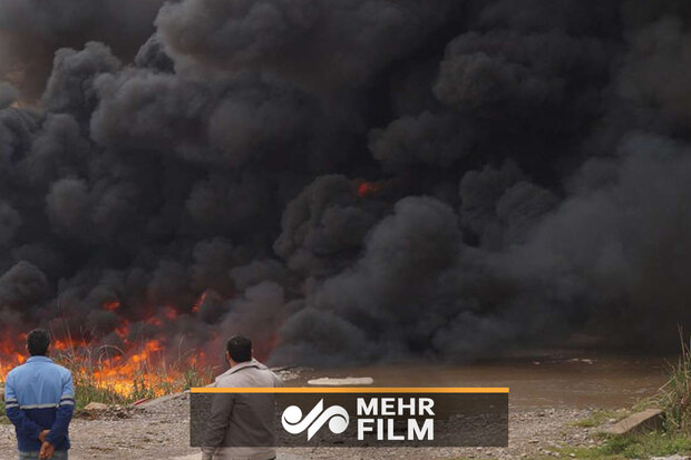 VIDEO: Fire at oil pipeline in SW Iran under control