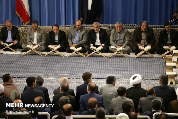 Ayatollah Khamenei attends ceremony of Quran recitation
