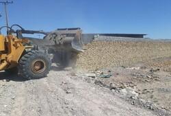 ۴۰۰ بنای غیرمجاز در اراضی شهرستان قزوین تخریب شده است