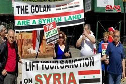 Syrians in US demonstrate against Trump's declaration on occupied Golan