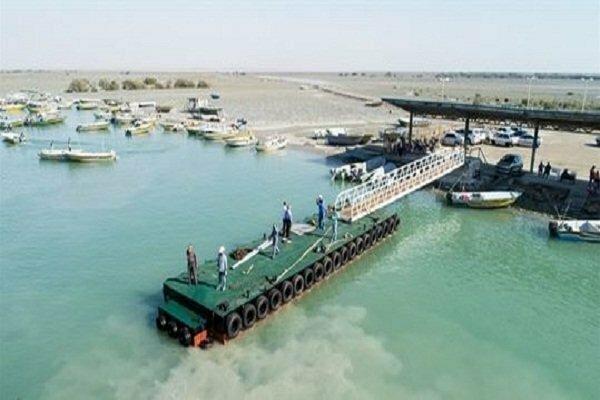 افتتاح اسکله شناور پشتیبان شناور های صیادی و مزارع پرورش ماهی