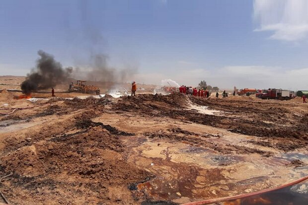 Fire extinguished on ruptured oil pipeline in southwest Iran
