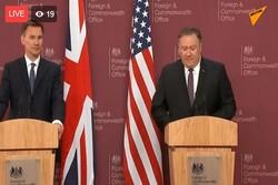 هانت وبومبيو يناقشان قرار ايران النووي