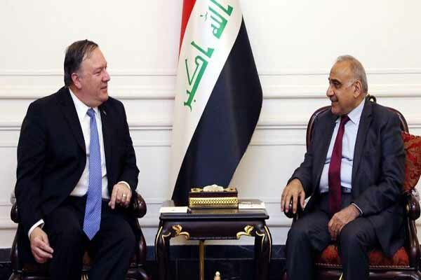 PM Mahdi told Pompeo Iraq will strengthen friendship, coop. with Iran: statement