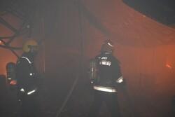 29إصابة جراء حريق في سوق تبريز التاريخي