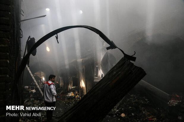 خسارت آتش سوزی بازار تبریز