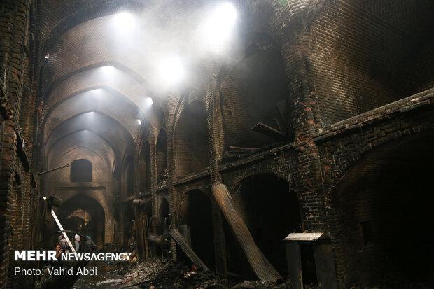 آتش سوزی اخیر به بازار تبریز ۲۰۰ میلیارد ریال خسارت وارد کرد