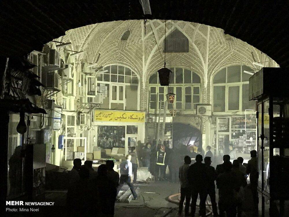 مهار آتش سوزی بازار تبریز