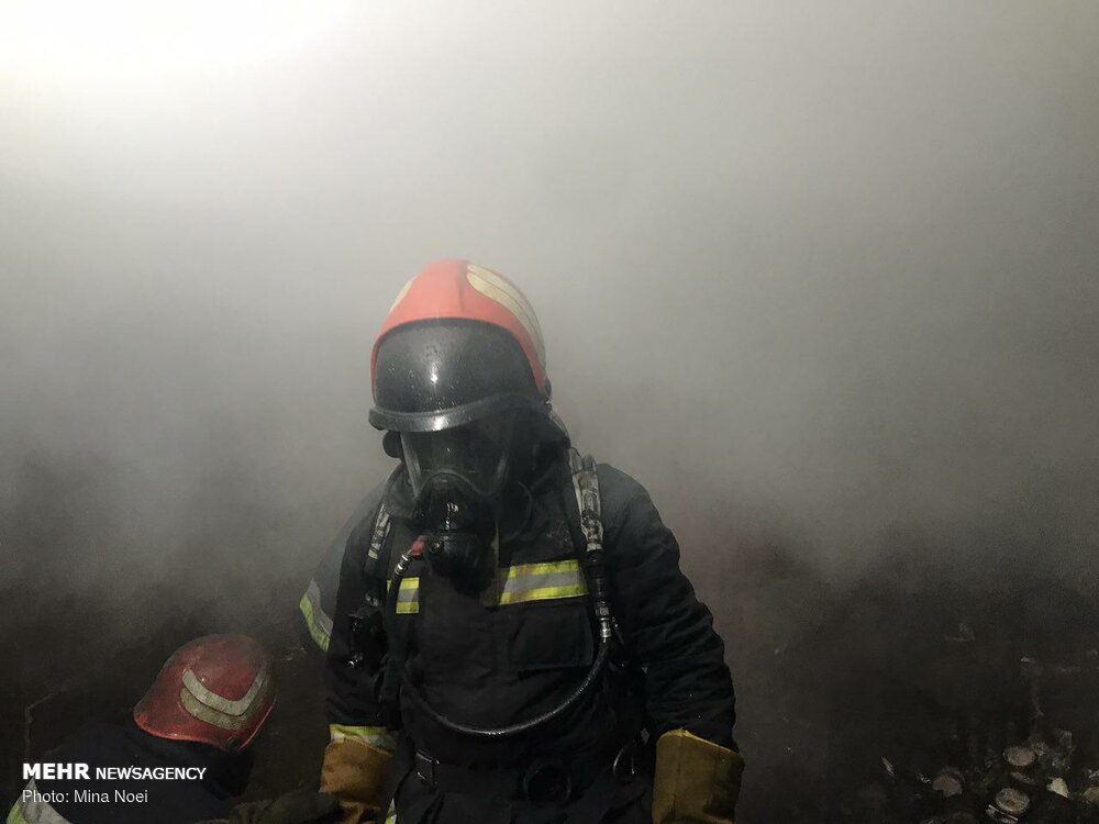 Fire extinguished at historical bazaar in Tabriz