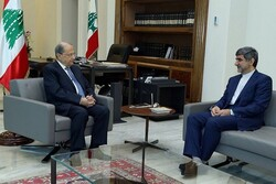Lebanese President, Iranian envoy discuss bilateral ties