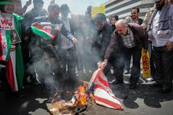 مسيرات شعبية تطالب الحكومة الإيرانية الانسحاب من الاتفاق النووي