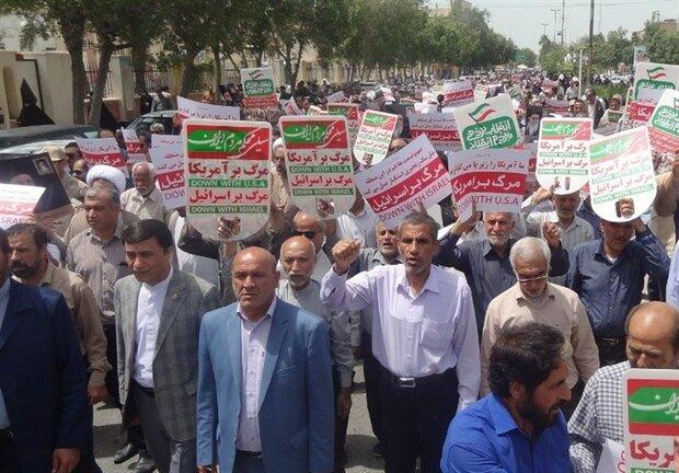 راهپیمایی مردم بوشهر در حمایت از بیانیه شورای عالی امنیت ملی