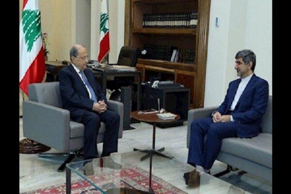 سفیر ایران در لبنان با میشل عون دیدار و گفتگو کرد