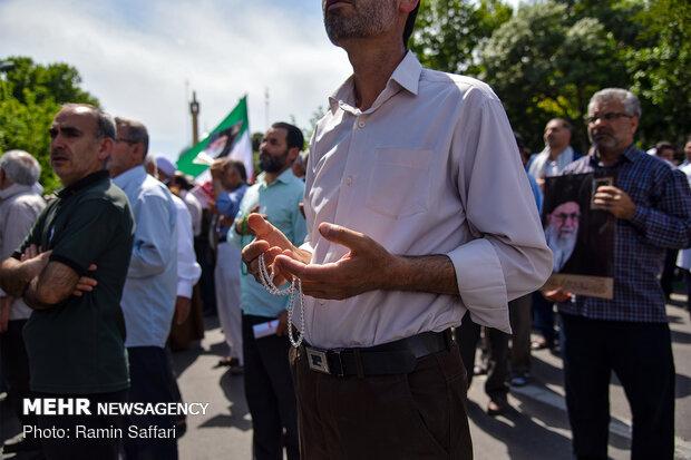 راهپیمایی مردم مشهد در حمایت از بیانیه شورای عالی امنیت ملی