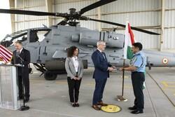 آمریکا اولین بالگرد «آپاچی» را به هند تحویل داد
