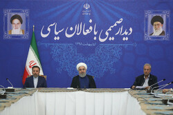 Top political figures call for unity in meeting with Rouhani