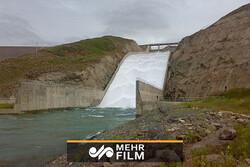 فیلمی از سرریز شدن سد طالقان