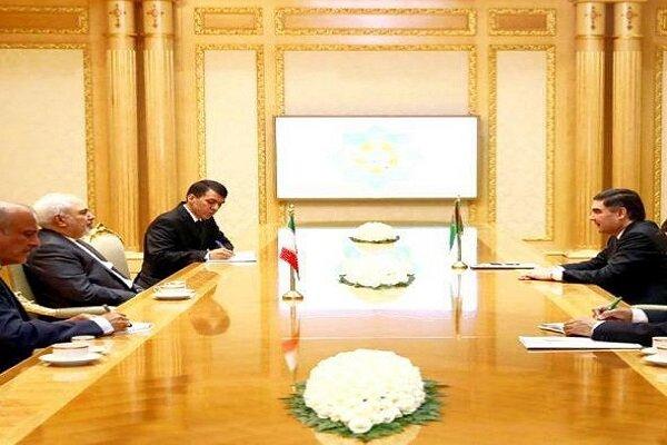 Zarif meets Turkmenistan's president in Ashgabat