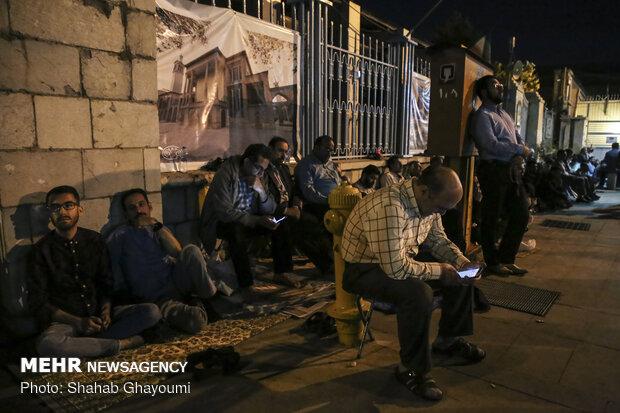 حال و هوای آسمانی مسجد ارک در شبهای رمضان