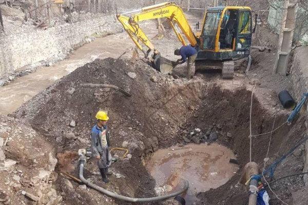 اجرای عملیات بهسازی و اصلاح تأسیسات فاضلاب در منطقه رودبار قصران