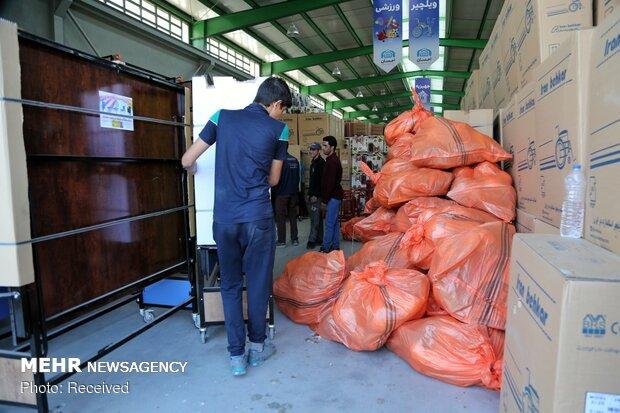 ارسال محموله لوازم ورزشی اهدایی به مناطق محروم