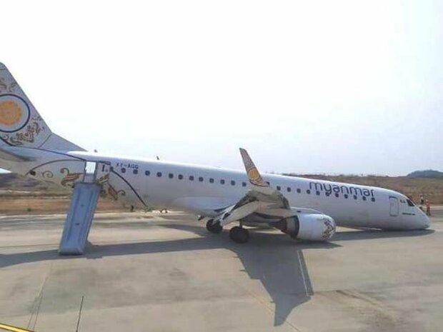 میانمار میں پائلٹ نے مہارت کے ساتھ طیارے کو حادثے سے بچا لیا