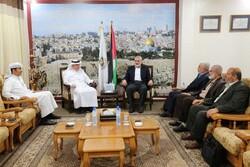 دیدار فرستاده قطر با رهبران حماس در نوارغزه