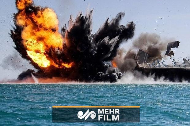 امریکہ کی ایک ارب ڈالر کی بحری کشتی سیکڑوں ڈالر کے مائن سے تباہ