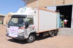 ارسال چهارمین محموله از کمکهای مردم همدان برای سیل زدگان سیستان