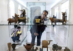 File photo: A visitor tours the National Museum of Iran.