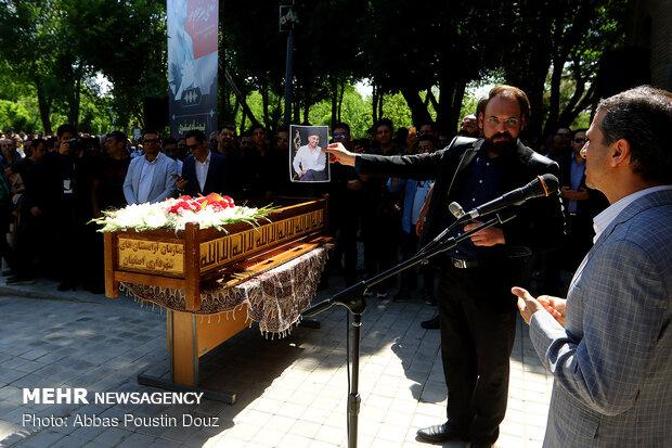 Funeral ceremony of singer Behnam Safavi