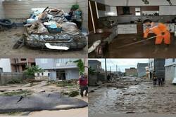 بسیج تمام امکانات برای پاکسازی منازل سیل زده شهر آشخانه