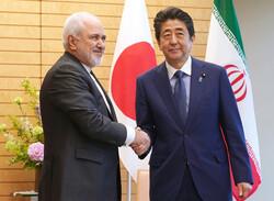 ایران کے وزیر خارجہ کی جاپان کے وزير اعظم سے ملاقات