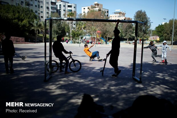 اسکیت سواری در غزه