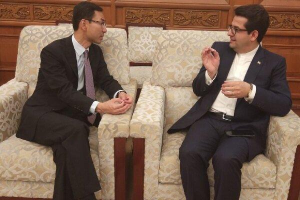 Iran, China FM spokesmen meet in Beijing