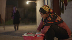 "A scene from director Mehdi Ghafuri's short drama ""The Respectful Gypsy""."