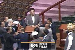 درگیری در مجلس افغانستان بر سر کرسی ریاست!