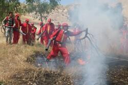 مانور عملیات اطفای حریق در شهرستان کهگیلویه برگزار شد
