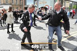 پذیرایی غیرعادی از سیاستمدار انگلستان