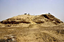 A view of the Burnt City, a UNESCO-registered archaeological site in southeast Iran.