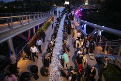 Iftar on Tehran's Nature bridge