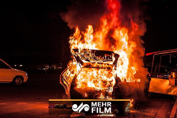 آتش سوزی در تعمیرگاه خودرو/ ۴ نفر مصدوم شدند