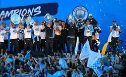 Manchester City'nin şampiyonluk kutlaması
