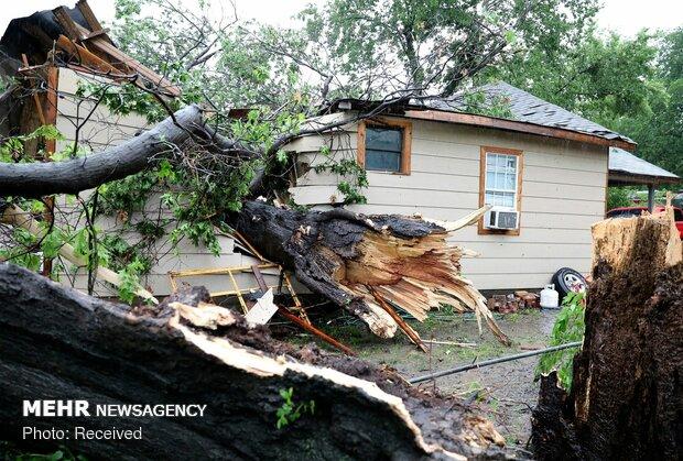گردباد در اوکلاهاما و تگزاس