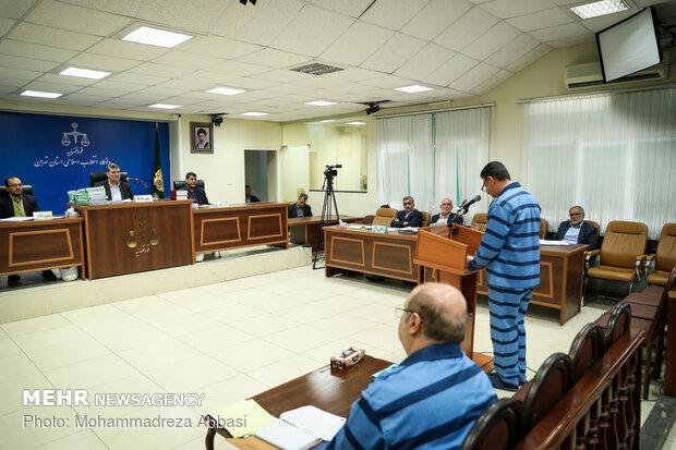 چهارمین جلسه رسیدگی به اتهامات علیرضا زیبا حالت منفرد