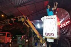 سازه های غیر مجاز در شهر یاسوج جمع آوری می شوند