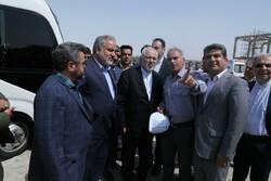 ظریف از سایت پتروشیمی «نگین مکران» بازدید کرد